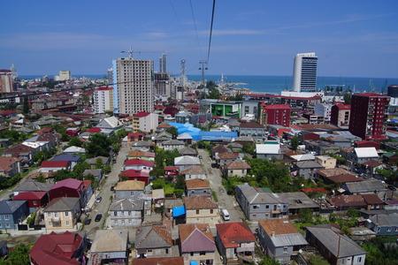 ropeway: view from Batumi ropeway, Ajara, Georgia