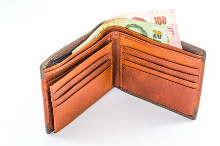 deadpan: wallet brown color isoleted on white background