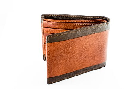 deadpan: wallet r isolted on white background Stock Photo