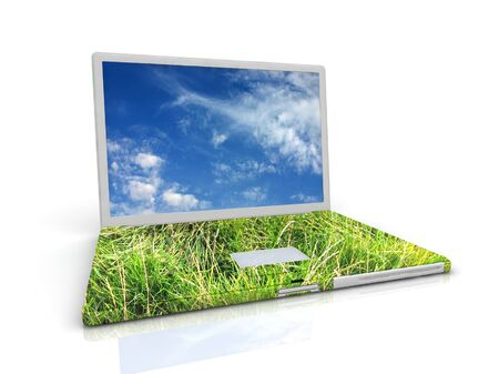 3D eco Laptop photo