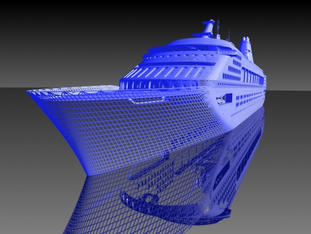luxe jacht model Stockfoto