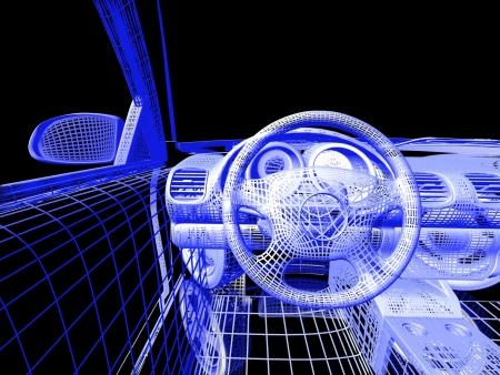 Auto model op zwarte achtergrond