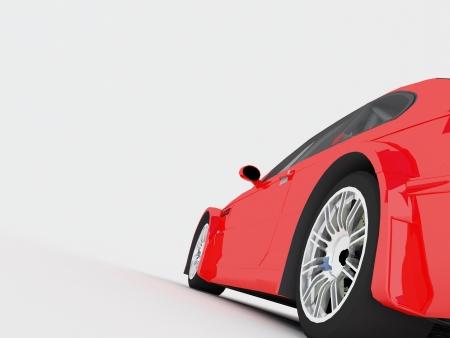 sportcar: Sportcar isolated on white background Stock Photo