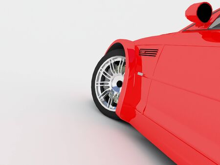 Sportcar isolated on white background photo