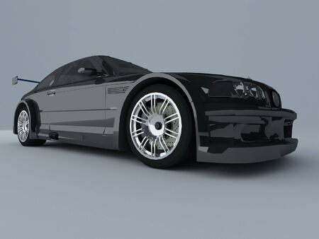 Sportcar isolated on gray background photo
