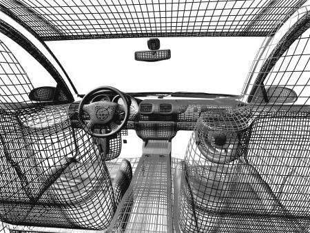 Car model white and black Stock Photo - 16820331