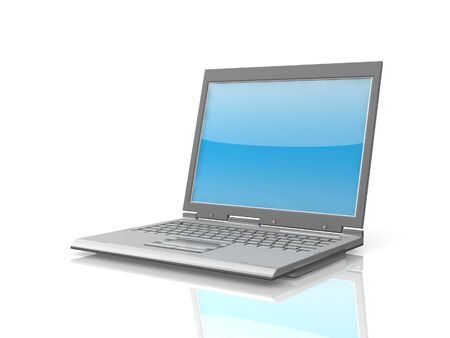 professional Laptop isolated on white background with reflection Stock Photo - 16820125