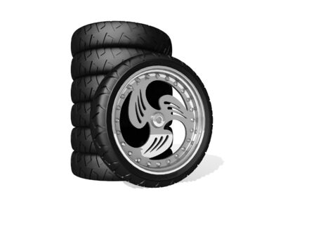 New wheels Stock Photo - 16868666