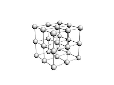 the hutch: molecular crystalline lattice Stock Photo