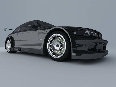 sportcar: Sportcar isolated on gray background