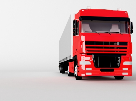 camion rouge isol� sur blanc photo