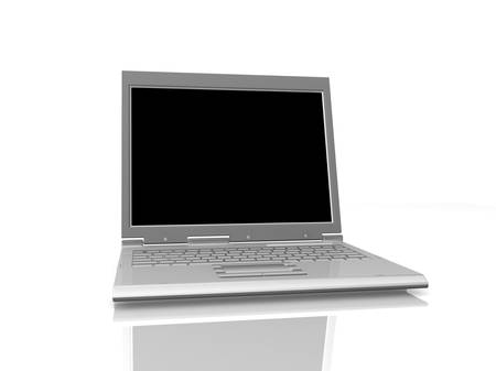 macintosh: professional Laptop isolated on white background with empty space Stock Photo