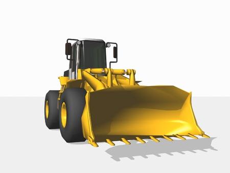 bagger: bulldozer isolated on white