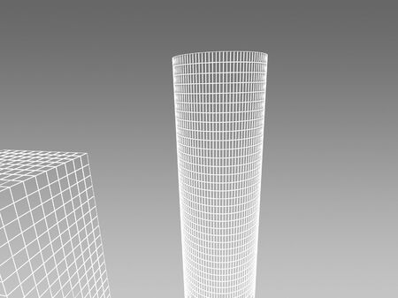 Abstract architectural 3D construction. Concept - modern architecture and designing. Stock Photo - 16910853