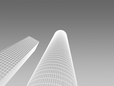 Abstract architectural 3D construction. Concept - modern architecture and designing. Stock Photo - 16910864
