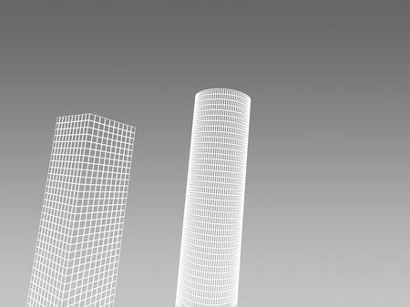 Abstract architectural 3D construction. Concept - modern architecture and designing. Stock Photo - 16910858
