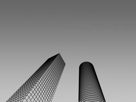 Abstract architectural 3D construction. Concept - modern architecture and designing. Stock Photo - 16910866