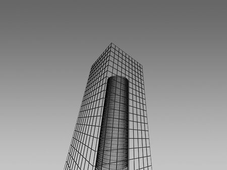 Abstract architectural 3D construction. Concept - modern architecture and designing. Stock Photo - 16910857