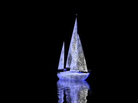 luxury yacht model isolated on black background Stock Photo - 16910544