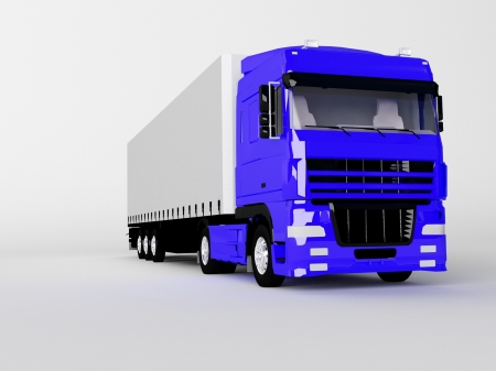 camion isolé sur blanc