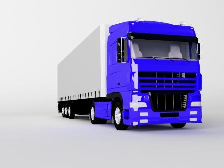vrachtwagen geïsoleerd op wit