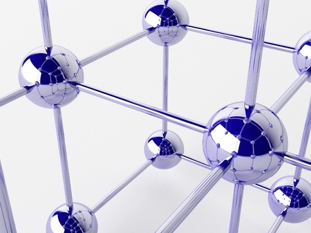 High technology background. Molecular crystalline lattice. Stock Photo - 16956917