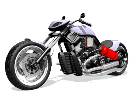 modern motorcycle Standard-Bild