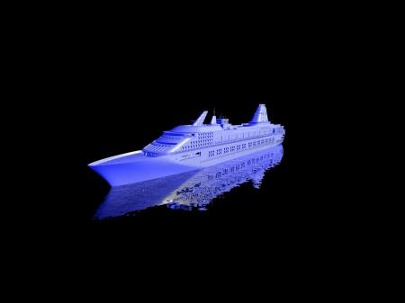 luxury yacht model isolated on black background Stock Photo - 16956498