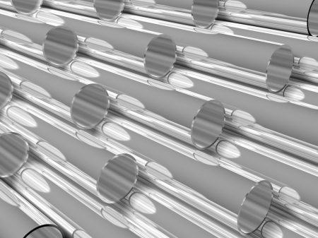 high technology background - chrome tubes photo