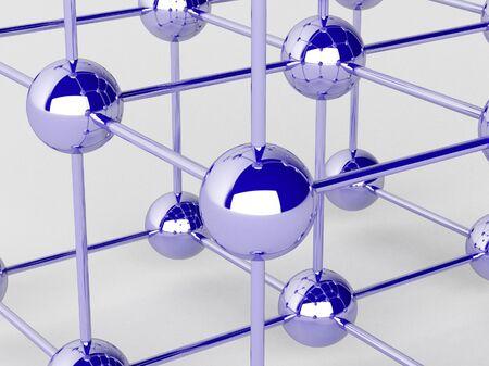 High technology background. Molecular crystalline lattice. Stock Photo - 17019613