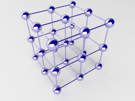 High technology background. Molecular crystalline lattice. photo