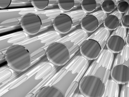 high technology background - chrome tubes photo