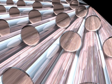 high technology background - metallic tubes Stock Photo - 17049392
