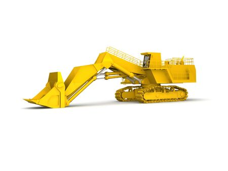 bulldozer-excavator isolated on white Stock Photo - 17124562