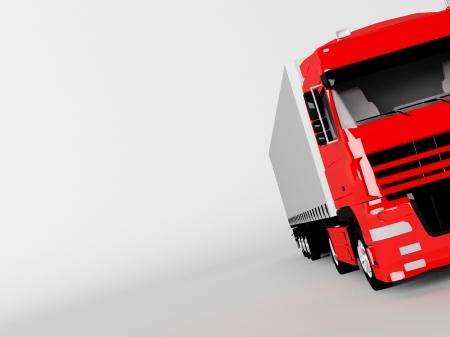 ciężarówka: czerwony samochód na biaÅ'ym tle