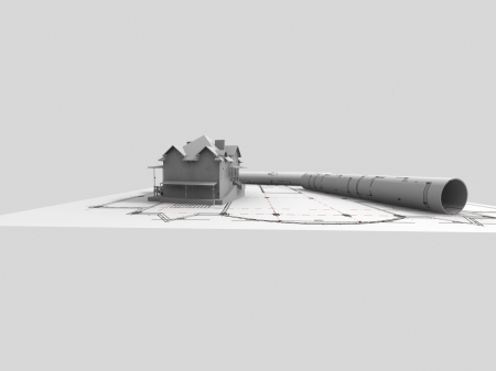3D model of house photo