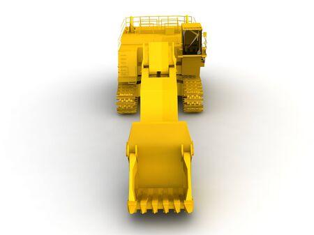 bulldozer-excavator isolated on white Stock Photo - 17295935