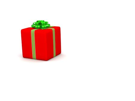 Red gift isolated on white background Stock Photo - 17295652