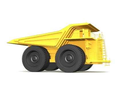 Dump truck isolated on white background Stock Photo - 17295856