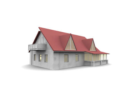 house isolated on white Stock Photo - 17409408