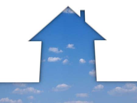 echo house metaphor Stock Photo - 17409519