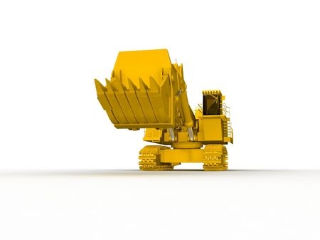 bulldozer-excavator isolated on white Stock Photo - 17409434