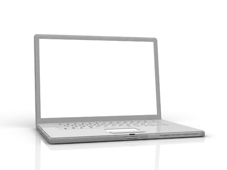 professional Laptop isolated on white background with empty space Stock Photo