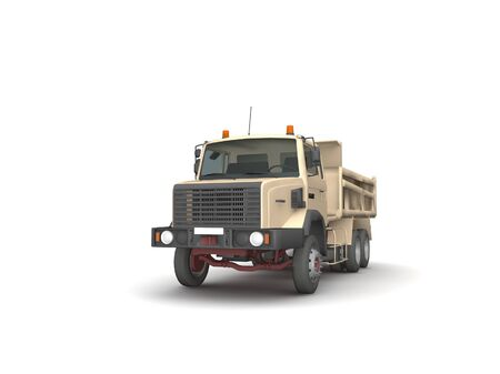 Dump truck isolated on white background photo