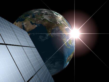 Solar panel  Concept - echo energy Stock Photo - 17446887