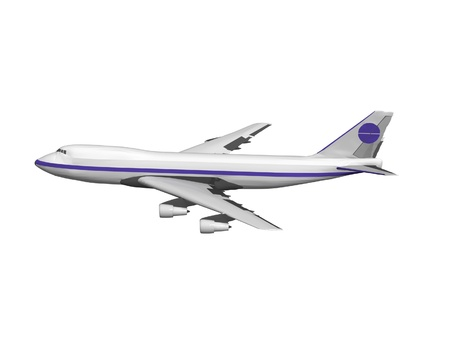 jet airplane isolated on white Stock Photo