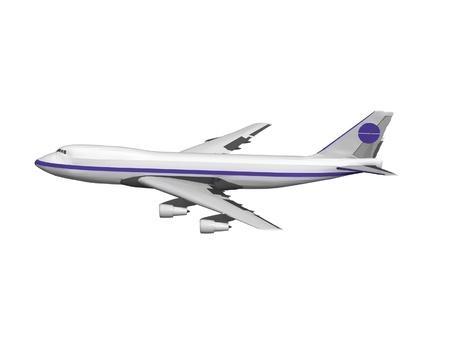 jet vliegtuig geïsoleerd op wit