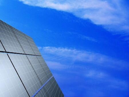 Solar panel against blue sky. Concept - echo energy. Stock Photo - 17720827