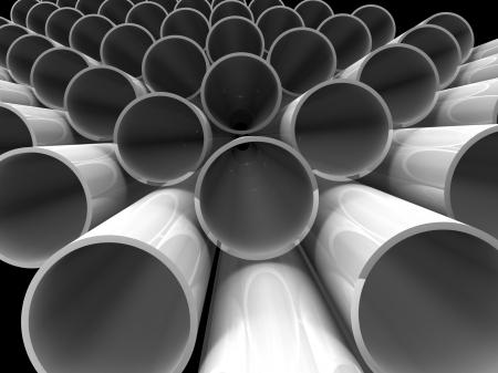 high technology background - aluminum tubes Stock Photo - 17720805
