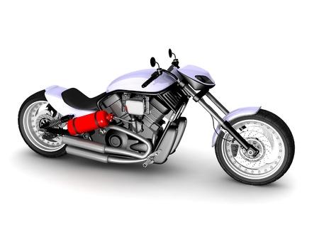moderne motorfiets geïsoleerd op witte achtergrond